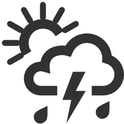 256x256px size png icon of Weather Chance of storm