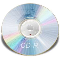 256x256px size png icon of Hardware CD R