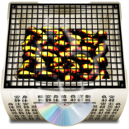 256x256px size png icon of Software Burn