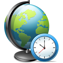 256x256px size png icon of Network time