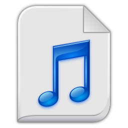 256x256px size png icon of audio x generic