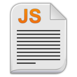 256x256px size png icon of text x javascript