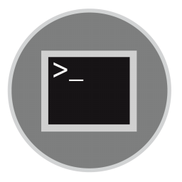 256x256px size png icon of Terminal