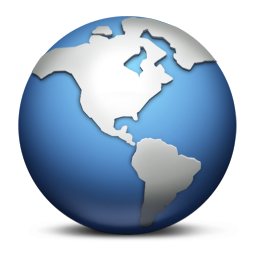 256x256px size png icon of Earth
