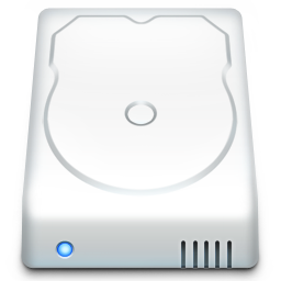 256x256px size png icon of Hard Drive