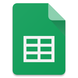 256x256px size png icon of Filetype Sheets