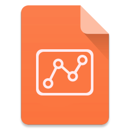 256x256px size png icon of Filetype Slides