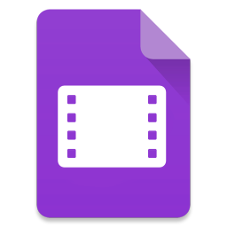 256x256px size png icon of Filetype Video