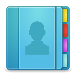 256x256px size png icon of Apps addressbook