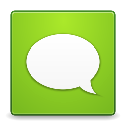 256x256px size png icon of Apps gwibber