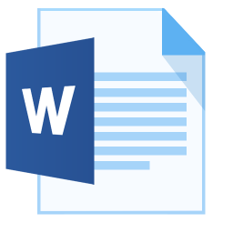 256x256px size png icon of ModernXP 31 Filetype Word