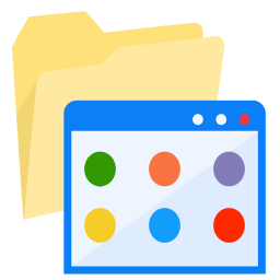 256x256px size png icon of ModernXP 34 Folder Applications