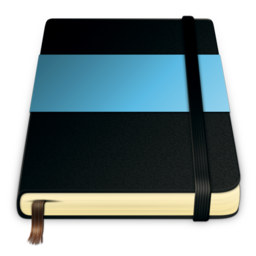 256x256px size png icon of moleskine blue 512