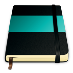 256x256px size png icon of moleskine turquoise 512