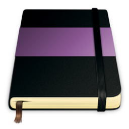 256x256px size png icon of moleskine violet 512