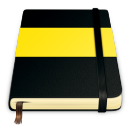 256x256px size png icon of moleskine yellow 512