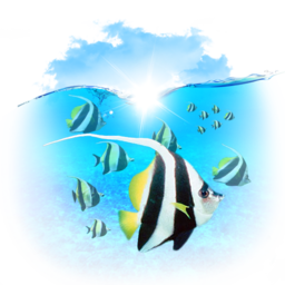 256x256px size png icon of Animals Fishes