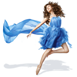 256x256px size png icon of Girls Blue Dress