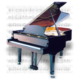 256x256px size png icon of Music Piano