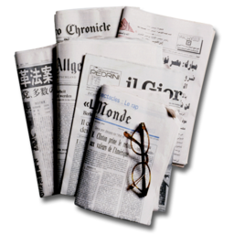 256x256px size png icon of Newspapers 2