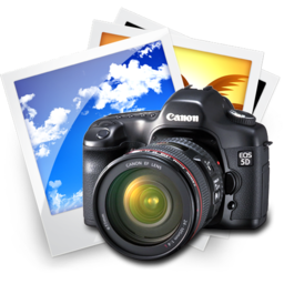 256x256px size png icon of Pictures Canon