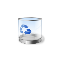 256x256px size png icon of Recycle Bin empty