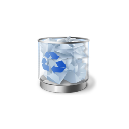 256x256px size png icon of Recycle Bin full