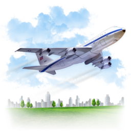 256x256px size png icon of Travel Airplane