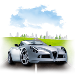 256x256px size png icon of Travel Alpha Romeo