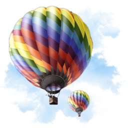 256x256px size png icon of Travel Baloon