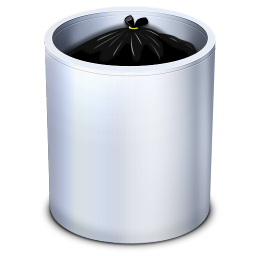 256x256px size png icon of Dock Trash Full