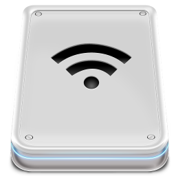 256x256px size png icon of Hard Disk Wifi