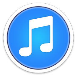 256x256px size png icon of iTunes BLUE