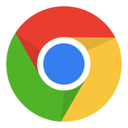 256x256px size png icon of Internet chrome