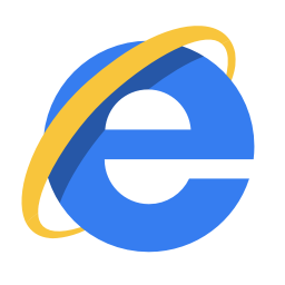 256x256px size png icon of Internet ie
