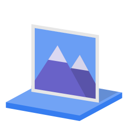 256x256px size png icon of System library pictures