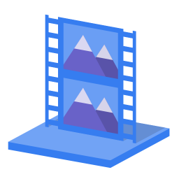 256x256px size png icon of System library videos