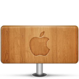 256x256px size png icon of Apple Wood