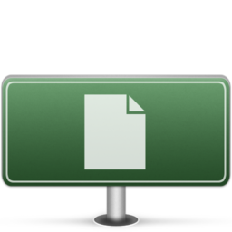 256x256px size png icon of Documents Sign