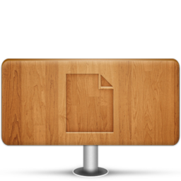 256x256px size png icon of Documents Wood