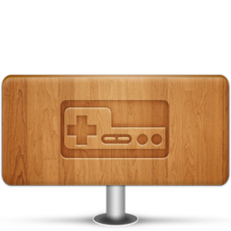 256x256px size png icon of Games Wood