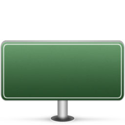 256x256px size png icon of Generic Sign