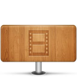 256x256px size png icon of Movies Wood
