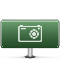 256x256px size png icon of Pictures Sign