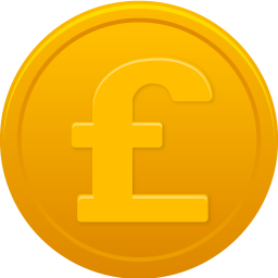 256x256px size png icon of coin pound