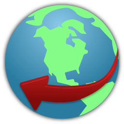 256x256px size png icon of globe service