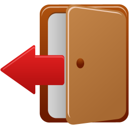 256x256px size png icon of logout