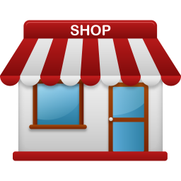 256x256px size png icon of shop