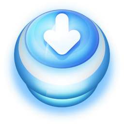 256x256px size png icon of Button Blue Arrow Down