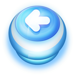 256x256px size png icon of Button Blue Arrow Left